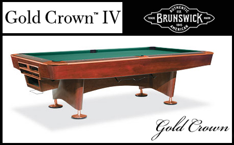A Beautiful Privately Owned Brunswick Gold Crown IV For Sale - Brunswick gold crown pool table for sale