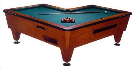 Right Angle Pool Table